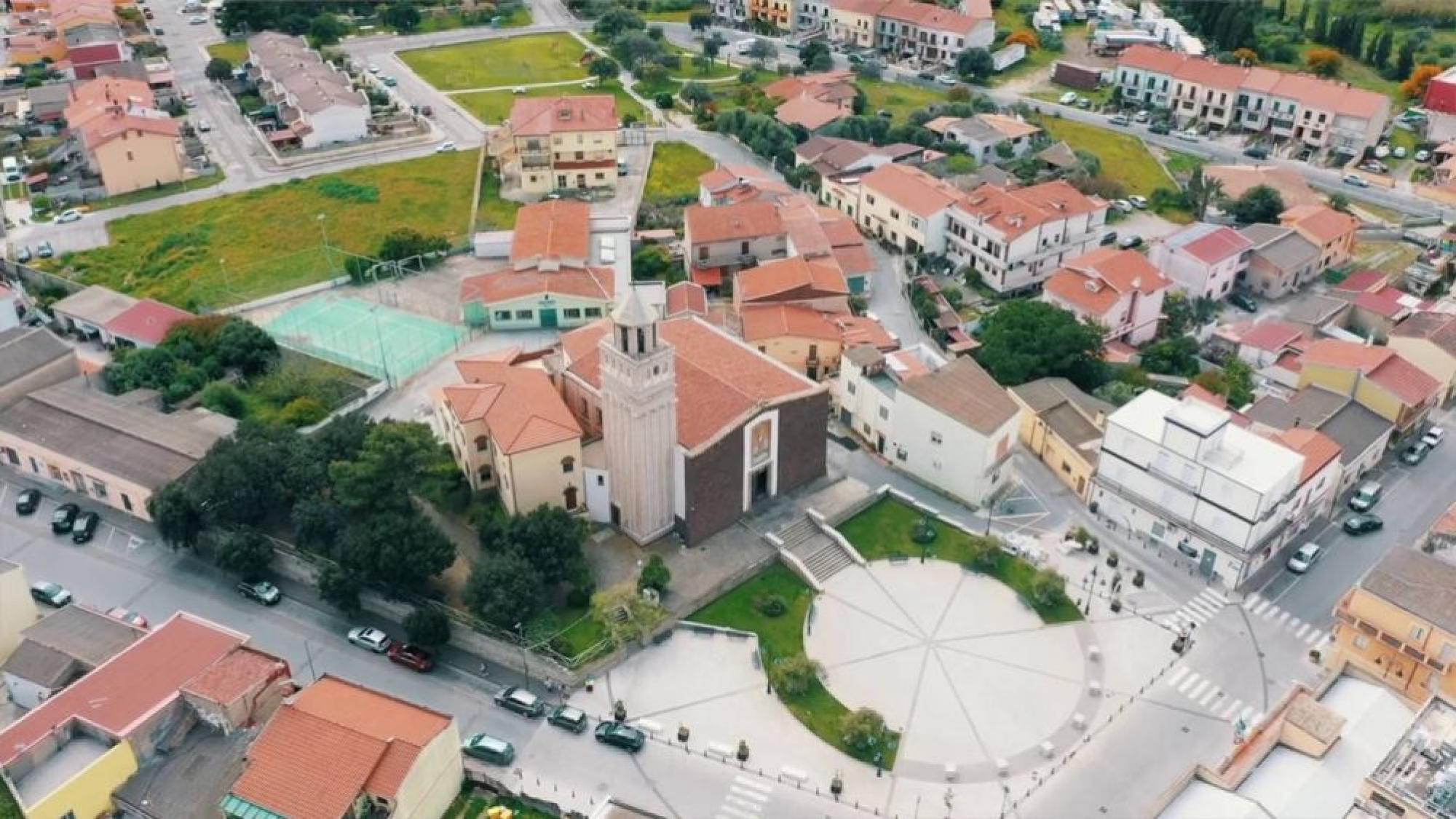 Visuale Aerea Centro San Giovanni Suergiu