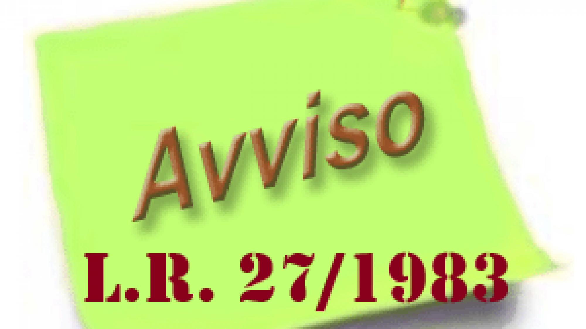 avviso_LEGGE 27